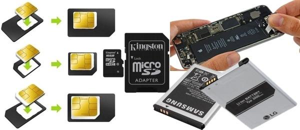 smartphones accesorios baterías